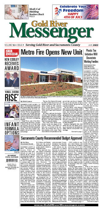 Gold River Messenger Front Page
